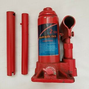 Vertical Hydraulic Bottle Jack 2 Ton With Handle Used But In Great Working Order