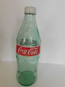 Coca Cola COKE 1 Liter 33.8oz Vintage Glass Bottle Home Decor Glass Soda Bottle