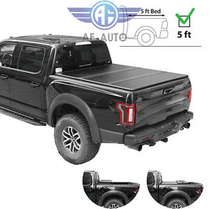 For 2016 2019 Toyota Tacoma Hard Tri fold Tonneau Cover 5ft Bed
