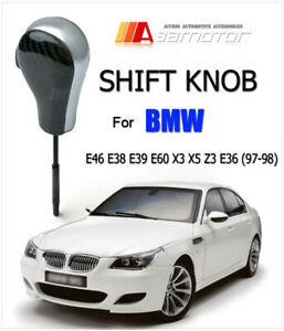 Carbon Fiber Automatic Transmission At Shift Knob For Bmw E46 E38 E60 X3 X5 E36