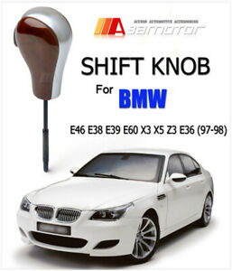 Wood Automatic Transmission At Shift Knob For Bmw E46 E38 E39 E60 X3 X5 Z3 E36