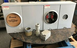 Milbank Dual Ringless Meter Socket Bank Electrical Housing W Timer
