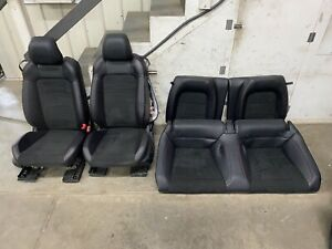 2015 2017 Ford Mustang Gt cs Black Leather Suede Front rear Seats Oem