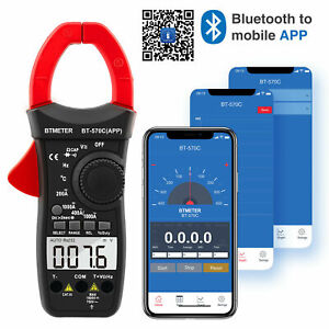 Clamp Multimeter Auto Range 1000a Ac dc Clamp Meter App 4000 Counts Bt 570c app