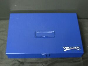 Williams Usa Made Tb 102 Toolbox Case For Socket Sets 13 25x9 0x1 75