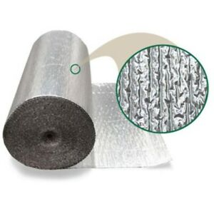 Single Bubble Reflective Insulation Double Foil 72 X 125