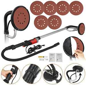 Power Drywall Sander 800w Commercial Electric Variable Speed Sanding Pad 6 Discs