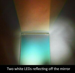 Dichroic Plate Beamsplitter Mirror Red 45 Reflect 75 X 51 X 3mm approx