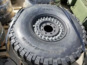 Set Of 4 New Hmmwv Humvee Hummer M998 24 Bolt Tire And Wheel 37x12 50r16 5lt