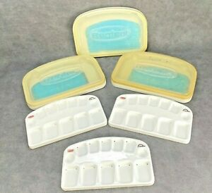 3 Renfert Dental Lab Melody Mixing Trays Porcelain Ceramic Stains Liquid Rainbow