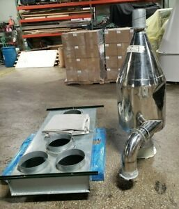 Cyclone Dust Collector 66 High X 24 od With Bag Housing