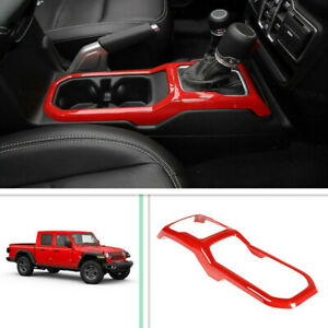 Fit For 2020 Jeep Gladiator Red Interior Car Gears Panel Shift Cover Trim Frame