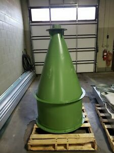 Cyclone Dust Collector 68 High X 36 od With Bag Housing