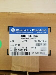 Franklin Electric 2823028110 3hp 230 Volt Submersible Motor Control Box