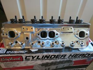 Edelbrock Performer 608719 Polished 87 91 Corvette Tpi Heads