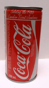 STUNNING 1985 CANADIAN BOY SCOUT JAMBOREE COCA-COLA CAN BANK -  MINT