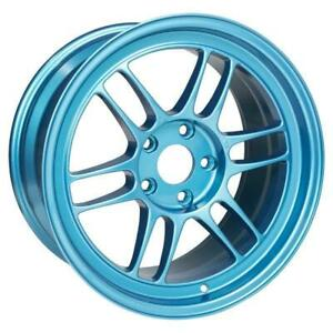 Enkei Rpf1 17x9 5x114 3 22mm Offset Emerald Blue Single Wheel New