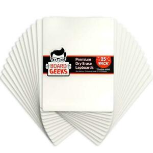 Board Geeks 25 Pack Dry Erase Lapboards 9 Inch By 12 Inch Large Whiteboard White