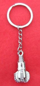 Oilfield Tricone Rock Bit Key Chain Key Silver Ring Jewelry Roughneck Oil Rig