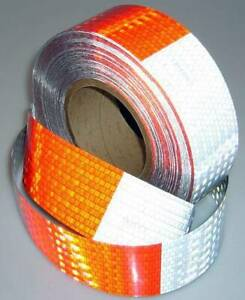 Vehicle Conspicuity Reflective Tape 5 Year Dot Red White By Merco Tape