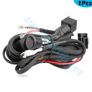 Led Driving Work Light Bar Wiring Harness Kit 12v 40a Switch Relay Universal Car