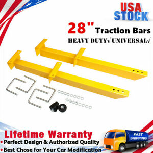 Heavy Duty Traction Bracket Bars 28 Pair Yellow Plated Steel 20475 Universal