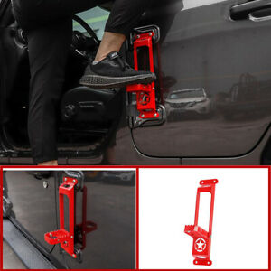 Side Door Roof Foot Pedal Ladder Red Car Accessories 1pc For Jeep Gladiator 2020