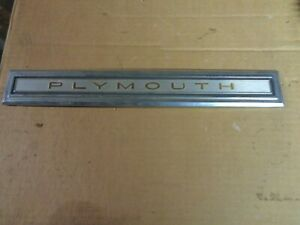 Used Plymouth Trunk Lid Emblem 4229492