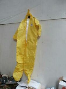 Kappler Chemical Protective Hazmat Large Size Coverall With Hood Bootie Cover
