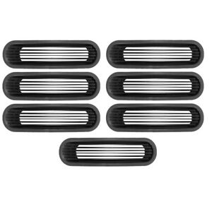 Rugged Ridge 11401 30 Billet Aluminum Grill Inserts Black 07 18 Jeep Wrangler Jk