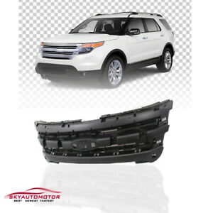 Fits Ford Explorer 2011 2015 Front Grille Grill Shell Matte Black