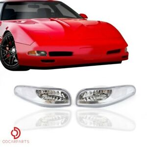Fits 1997 2004 Chevy Corvette C5 Front Bumper Corner Turning Signal Lamp Clear