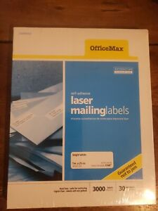 1 Box Of 3000 Officemax Laser Address Mailing Shipping Labels 1 X 2 5 8 5160
