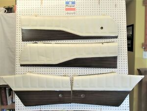 1973 73 1974 74 Dodge Charger Rallye Hardtop Upper Door Panels Set Of 4 White