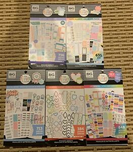 The Happy Planner Sticker Book Lot Of 5 All New