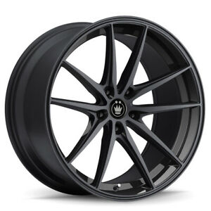 4 New 19x8 5 Konig Oversteer Black Gloss Wheel Rim 5x120 Et35 Os98520355
