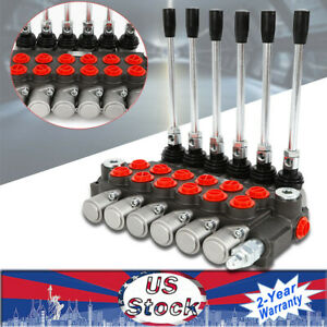 6 Spool Hydraulic Directional Control Valve 11gpm 40l min 6p40 Double Acting