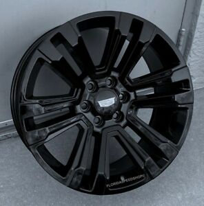 Gloss Black Cadillac Escalade Style Wheels 22x9 Set 2000 2020 Escalade denali