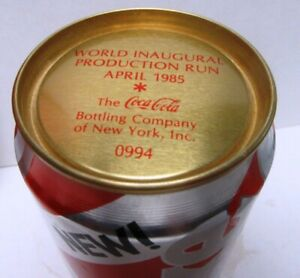 1985 INAUGURAL PRODUCTION RUN-NEW COKE CAN-RADIO CITY MUSIC HALL-ALMOST EMPTY