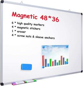 48 X 36 Dry Erase Board Ohuhu Magnetic Large Whiteboard white Board With 6 Co