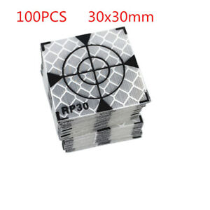 100pcs Reflector Sheet 30x30mm Reflective Tape Target For Total Station Survey