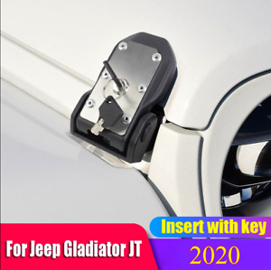 Car Hood Lock Latches Buckle Pins Catch With Key Kit For 2020 Jeep Gladiator Jt