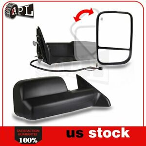 Power Heated Tow Mirrors For 2009 2015 Dodge Ram Pickup