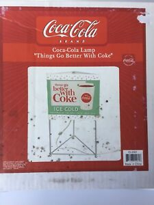 VINTAGE STYLE COCA COLA TRIANGLE TABLE LAMP 16