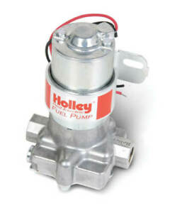 Holley 12 801 1 Red Electric External Fuel Pump Universal Polished