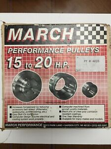 March Performance Pulleys Sbc
