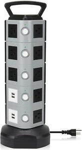 SUPERDANNY Power Strip Tower SDD005 5 Surge Protector 18 Outlet Plugs with 4.2A $55.99