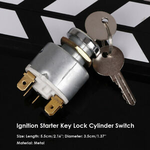 1pc 12v Motorcycles Boats Ignition Starter Lock Cylinder Switch With 2 Keys Us