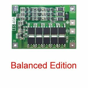 12 6v 18650 Lithium Battery Pcb Bms Protection Board 3s Motor 40a For Drill C7b1