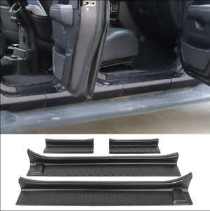 For 2020 Jeep Gladiator Jt Black Car Scuff Plate Door Sill Guard Pedal Widened